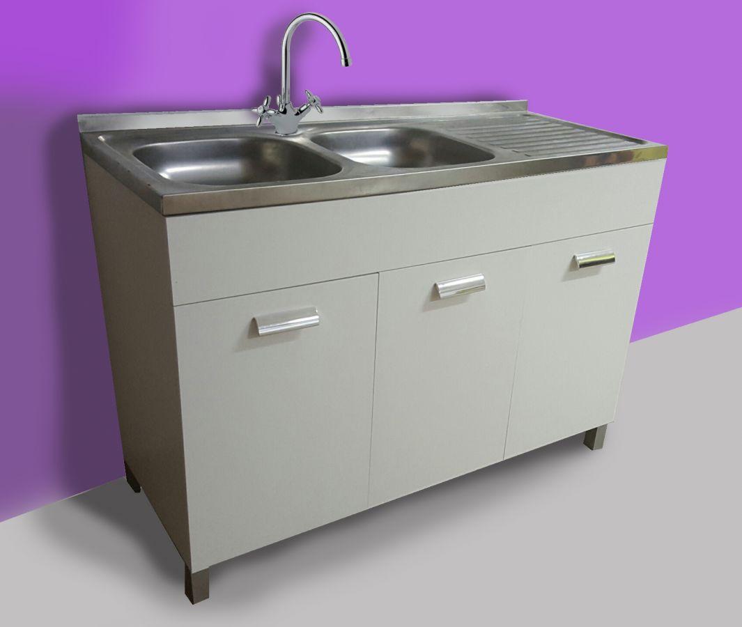 Mobile sottolavello bianco escluso rubinetto e lavello - Mobili per lavello ...