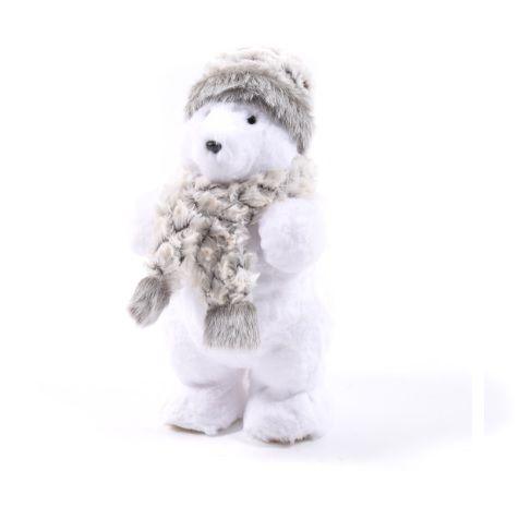 vendita più calda qualità eccellente goditi il prezzo più basso Orso Natalizio C/sciarpa E Cappello H 34 Cm - Animaletti ...