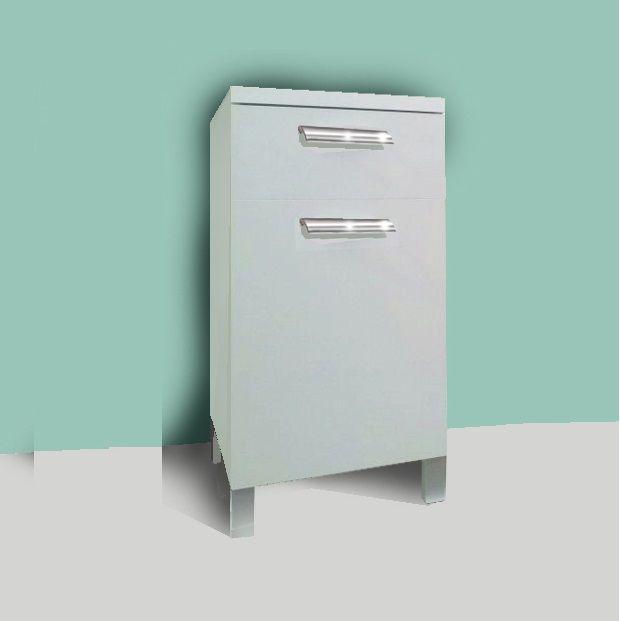 Base 40 Cm (1cass.+1anta) Bianco - Cucine, Mobili In Kit
